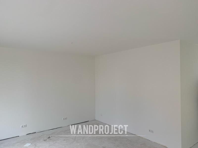 Latex laten spuiten, Wandproject,